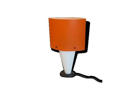 lampe en plastique mou vintage orange le fait main. Black Bedroom Furniture Sets. Home Design Ideas