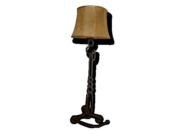 Lampadaire fer achat vente de lampadaire pas cher for Lampe de chevet fer forge