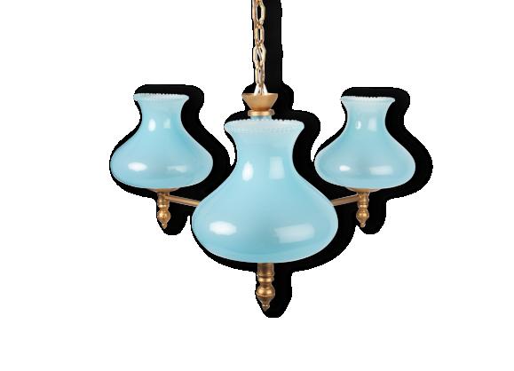 lustre bleu achat vente de lustre pas cher. Black Bedroom Furniture Sets. Home Design Ideas