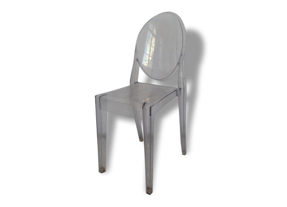 Kartell chaise ghost - Chaise polycarbonate transparent ...