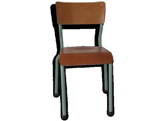 Chaises colier achat vente de chaises pas cher for Chaise ecolier vintage