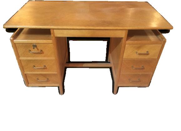 Bureau secr taire bois for Bureau 6 tiroirs