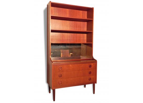 secr taire teck achat vente de secr taire pas cher. Black Bedroom Furniture Sets. Home Design Ideas