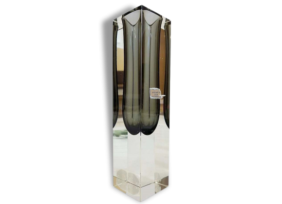 Design ann es 70 - Grand vase en verre transparent ...