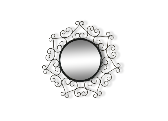 Miroir fer forg for Chaty vallauris miroir