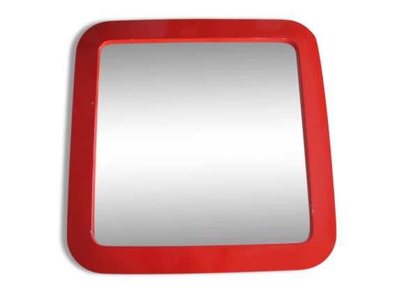 Miroir laqu achat vente de miroir pas cher for Grand miroir mural blanc laque