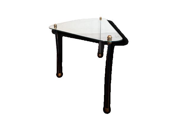 table basse verre m tal. Black Bedroom Furniture Sets. Home Design Ideas