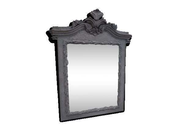 Miroir patin achat vente de miroir pas cher for Grand miroir gris