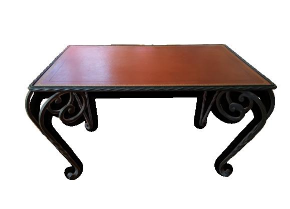 Table basse fer forg for Nettoyer une table en marbre