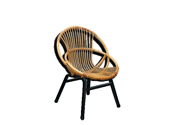 fauteuil rotin m tal. Black Bedroom Furniture Sets. Home Design Ideas