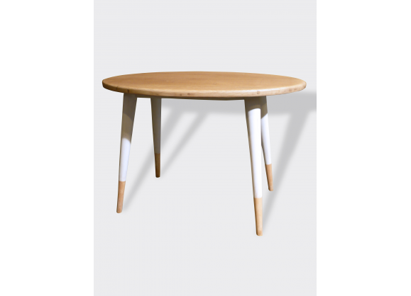 Table ovale knoll bois - Table basse bois ovale ...