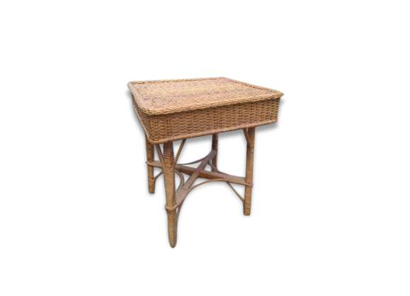 Table basse de jardin en osier - Table de jardin en osier ...