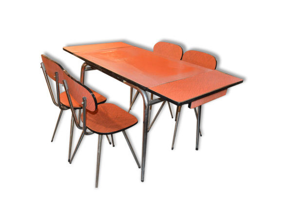 Table en formica annee 60 maison design for Ensemble table et chaise transparent