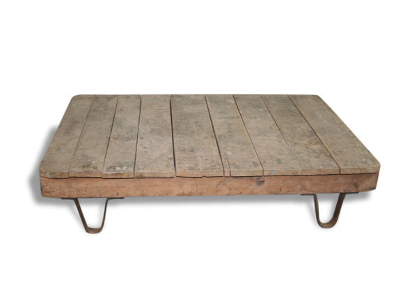 Table basse industriel - Table basse atelier loft ...