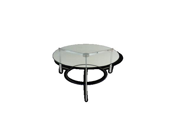 table verre acier. Black Bedroom Furniture Sets. Home Design Ideas