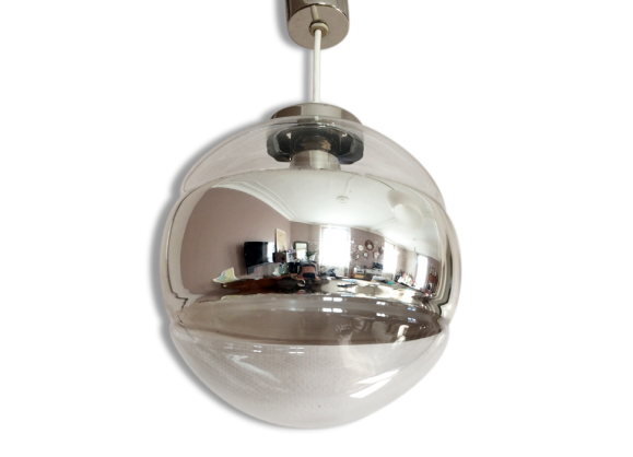Lustre globe achat vente de lustre pas cher for Suspension verre transparent