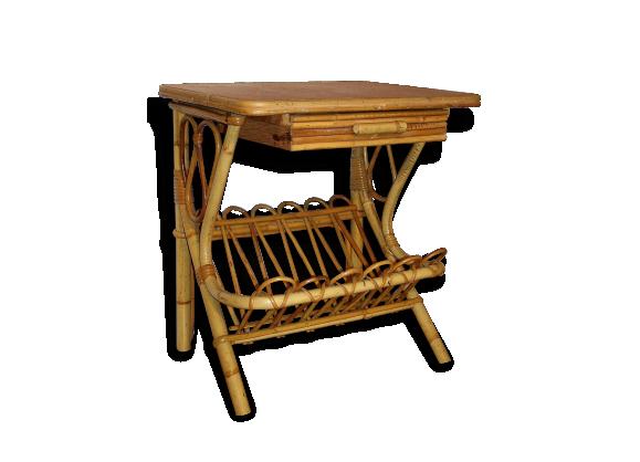 Bout canap bois for Petits meubles en rotin