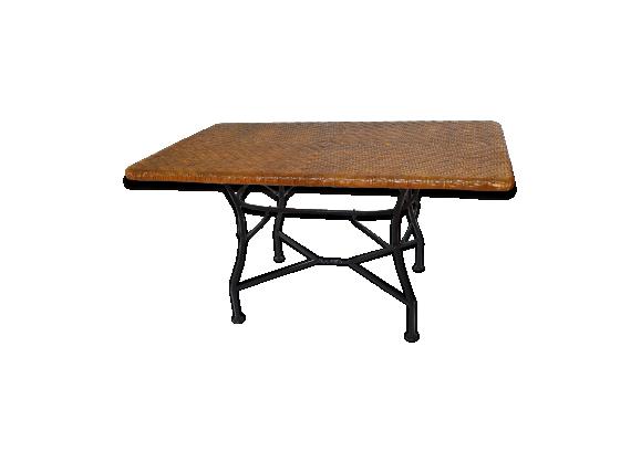 table basse fer forg. Black Bedroom Furniture Sets. Home Design Ideas