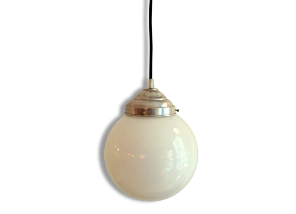 Lampe verre boule for Suspension boule verre