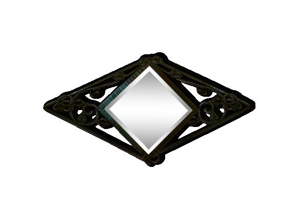Miroir fer forg for Miroir fer noir