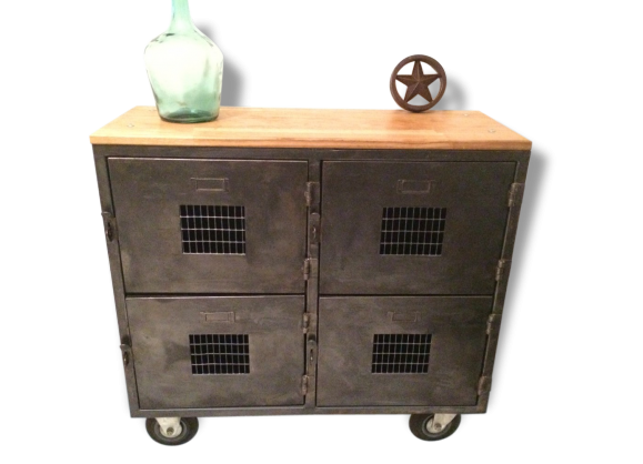Meuble casiers industriel for Meuble 8 casiers