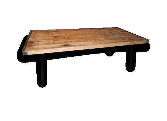 table basse industriel. Black Bedroom Furniture Sets. Home Design Ideas