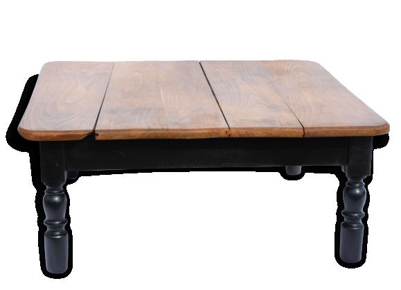 Table basse bois massif for Grande table en bois