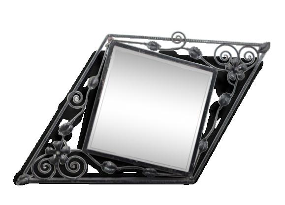 miroir fer forg. Black Bedroom Furniture Sets. Home Design Ideas