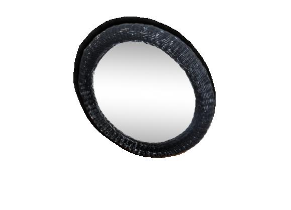 Grand 40 achat vente de grand pas cher for Miroir rotin noir