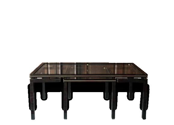 table basse gigogne par. Black Bedroom Furniture Sets. Home Design Ideas