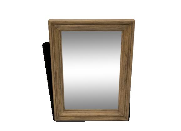 Miroir bois patin for Miroir jaune
