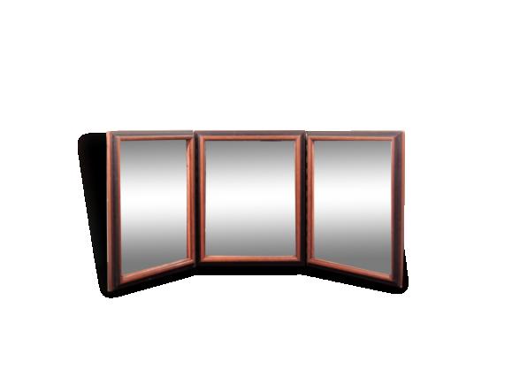 miroir triptyque achat vente de miroir pas cher. Black Bedroom Furniture Sets. Home Design Ideas