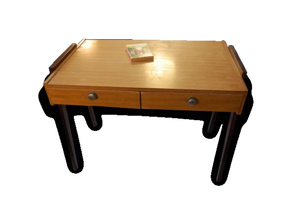 bureau vintage pieds compas ann es 50 60 le fait main. Black Bedroom Furniture Sets. Home Design Ideas