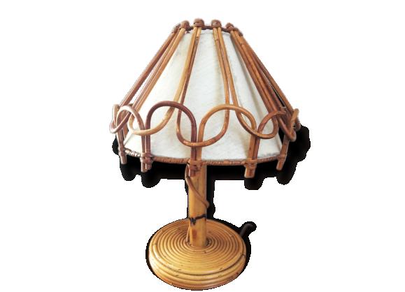 lampe rotin achat vente de lampe pas cher. Black Bedroom Furniture Sets. Home Design Ideas