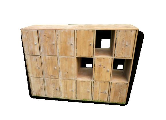 meuble casier bois. Black Bedroom Furniture Sets. Home Design Ideas