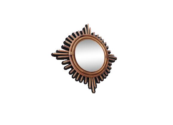 Miroir soleil achat vente de miroir pas cher for Miroir forme soleil