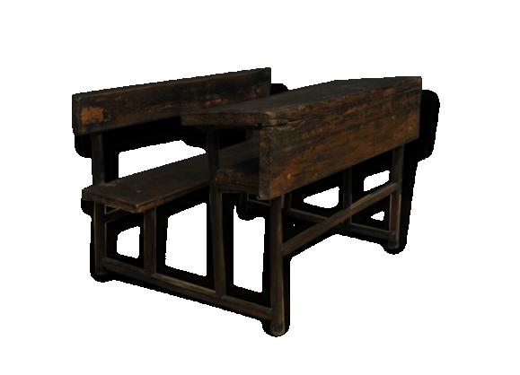 Bureau bois m tal - Petit bureau ecolier en bois ...