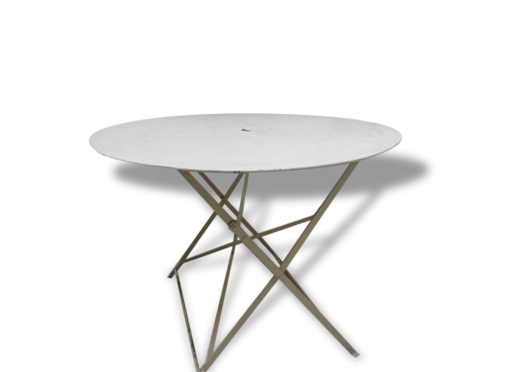 Table ronde pliante for Table ancienne repeinte