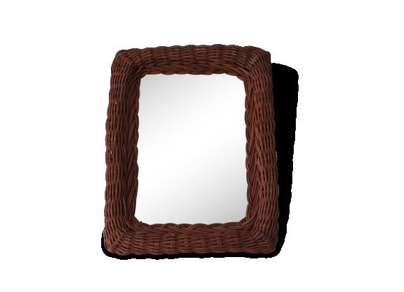 Miroir vintage achat vente de miroir pas cher for Miroir osier pas cher