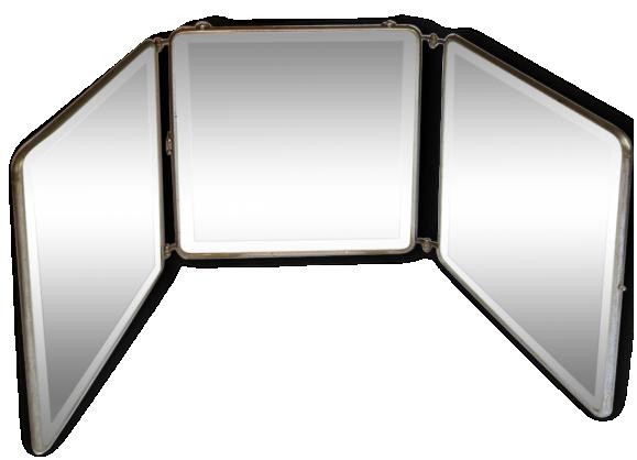 Miroir triptyque achat vente de miroir pas cher for Miroir triptyque de barbier