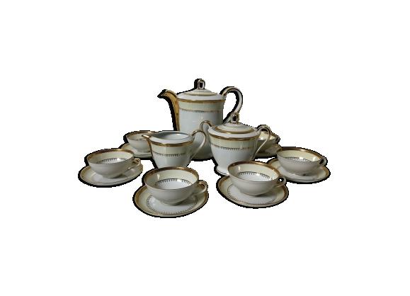 Service à thé en porcelaine de Limoges