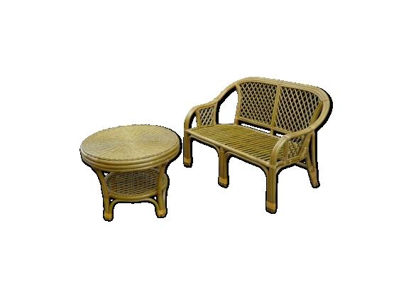 banquette rotin achat vente de banquette pas cher. Black Bedroom Furniture Sets. Home Design Ideas