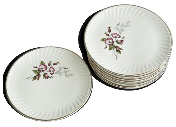 Assiettes porcelaine de limoges - deco fleurs