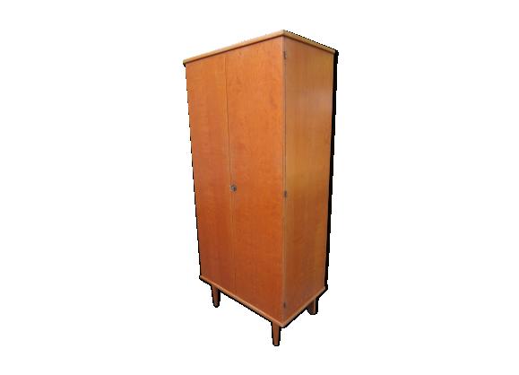 armoire d 39 internat ann es 60 bois mat riau marron. Black Bedroom Furniture Sets. Home Design Ideas