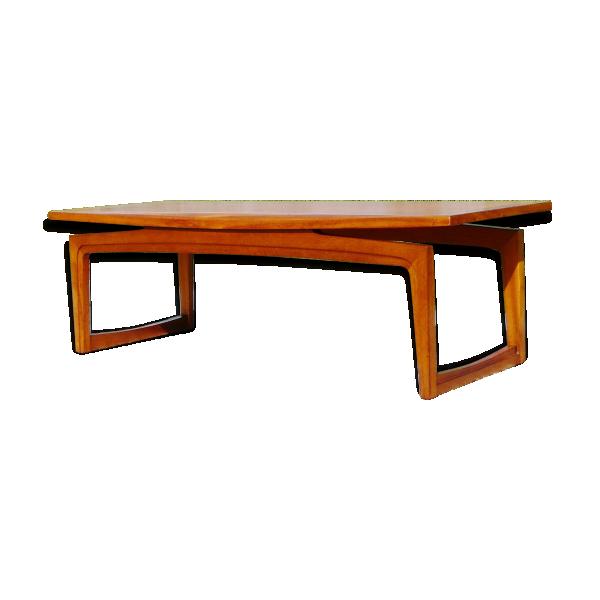 Table basse design danois  teck  bois (Couleur)  bon état  scandinave