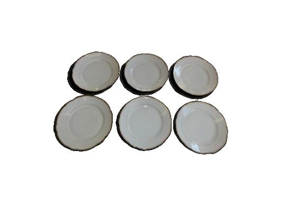 Assiettes plates en porcelaine blanche Bavaria