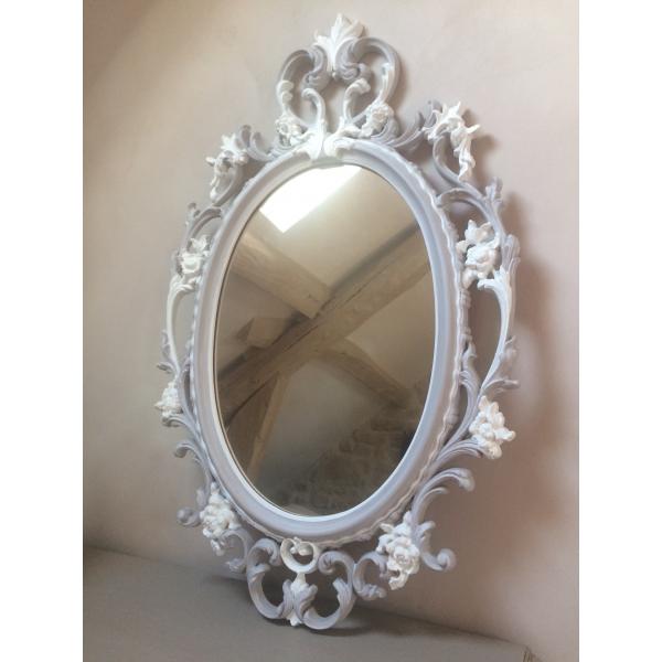 Miroir m daillon baroque plastique gris bon tat for Miroir baroque gris