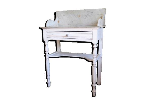 Table de toilette bois et marbre