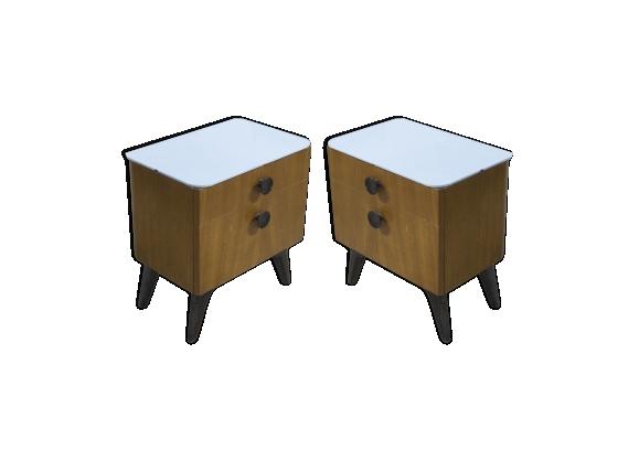 Paire de tables de chevet art déco Jindřich Halabala 1930