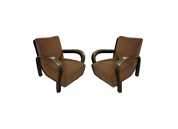 Paire de fauteuils art déco Jindřich Halabala 1930